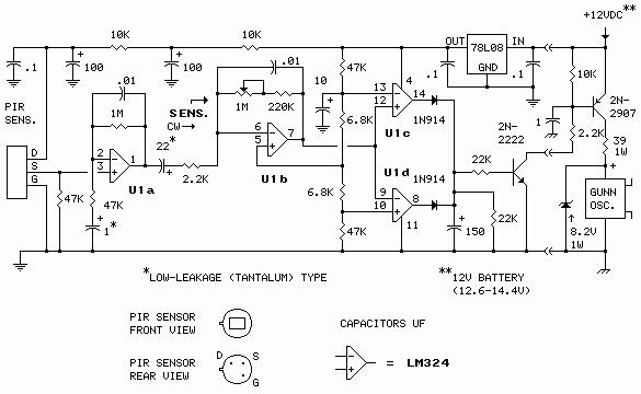 Pir Sensor Gunn Oscillator Interface