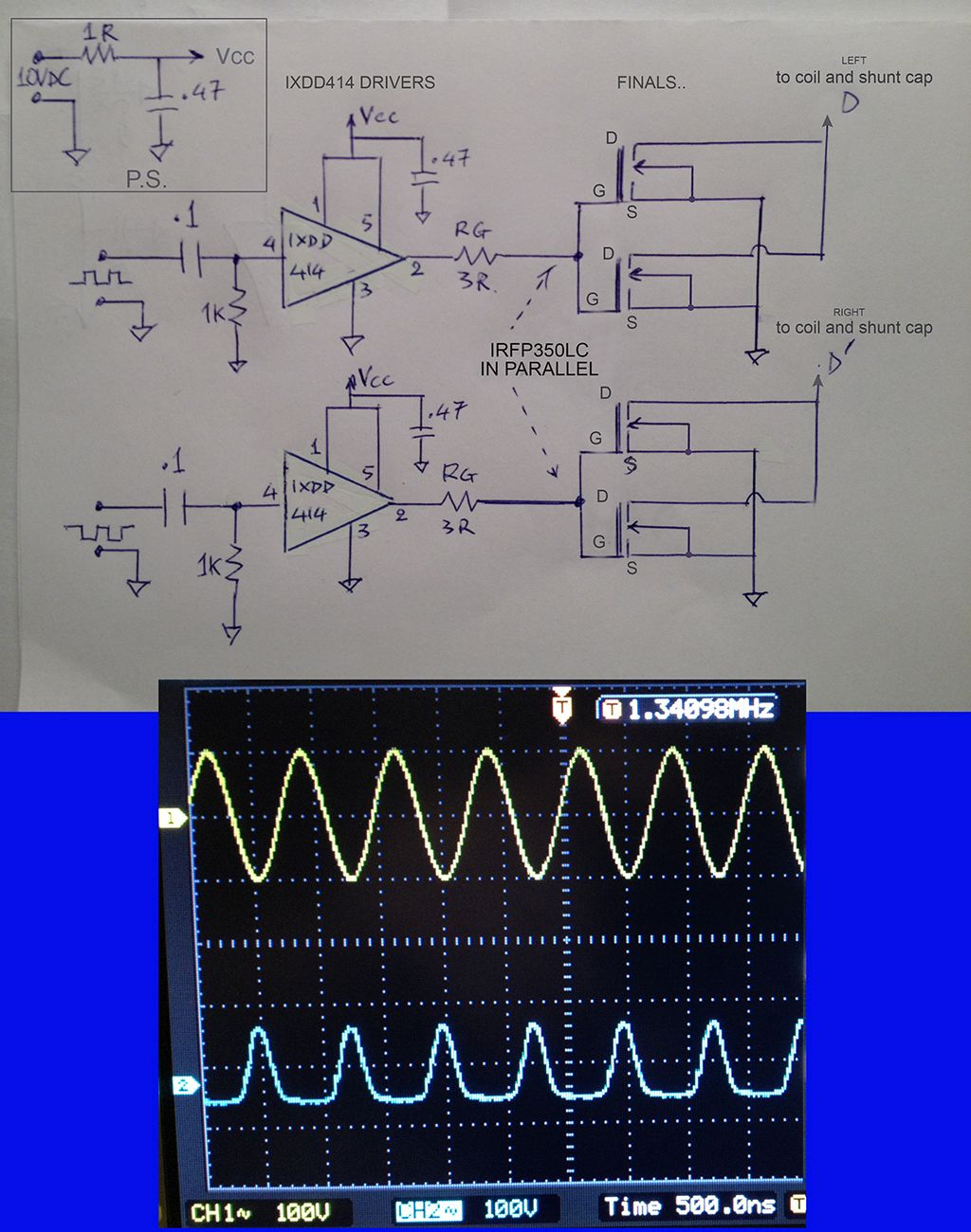 Class E Am Transmitter For 1710 Khz Circuit Description And Simple Fm Schematic Long Range Short Using Of Course The Drivers Current Drawn Was Double About 200ma Better Efficiency Seem To Be Indestructible Device After What It Has Suffered By Me
