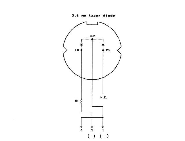 the diode assembly includes the laser diode (ld) and a photodiode (pd)  normally used to drive a regulator circuit  the photodiode is not used in  this