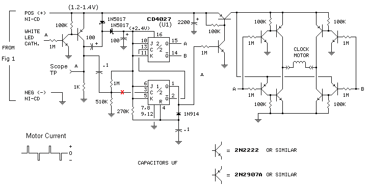 Electronic pendulum driver note that the driver circuit ccuart